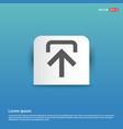 upload icon - blue sticker button vector image