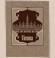 vienna cityscape famous landmark wien city street vector image vector image