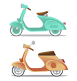 Vintage scooter vector image vector image