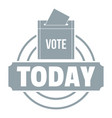 vote today logo simple gray style vector image vector image