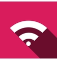 Wi-Fi network icon Flat design style eps vector image