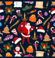 winter christmas holiday seamless pattern vector image