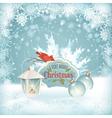 Xmas Bird Lantern Christmas Balls Background vector image vector image