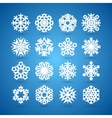 Simple Flat Snowflakes Set for Winter and vector image