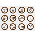 Zodiac signs icons vector image