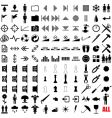 121 pictograms vector image vector image