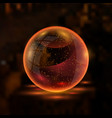 3d orange textured sphere vector image vector image