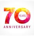 70 anniversary red logo vector image