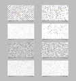 abstract dot pattern card background template set vector image vector image
