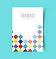 abstract report cover converted vector image vector image