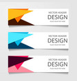 abstract web banner design template collection of vector image vector image