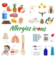 Allergy icons set vector image