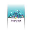 amusement park banner template vector image