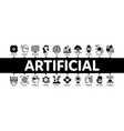 artificial intelligence minimal infographic banner vector image