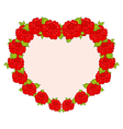 beautiful flowers from heart vector image vector image