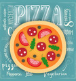 big pizza vector image vector image