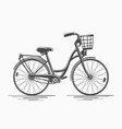 bike with basket vector image vector image