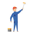builder painter construction worker with vector image vector image