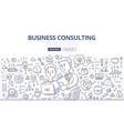 business consulting doodle concept vector image vector image