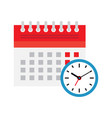 calendar and clock icon schedule appointment vector image