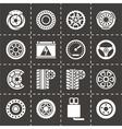 Car parts icon set vector image