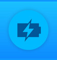 charging battery icon round pictogram vector image vector image