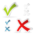 Check marks stickers vector | Price: 1 Credit (USD $1)