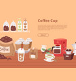 Coffee house concept banner flyer