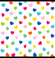 colorful heart pattern background design vector image vector image