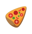 delicious italian pizza isolated icon vector image