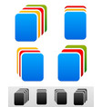 document stacks colorful sheets black version vector image
