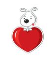 Dog loving vector image vector image