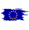 european flag painted by brush hand paints art eu vector image