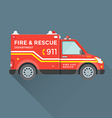 fire rescue department emergency car vector image