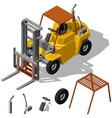 Forklift loader shadowed vector image