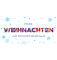 frohe weihnachten merry christmas german greeting vector image vector image