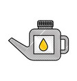 fuel canister gasoline can handle drop vector image vector image