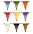 glossy pennants vector image vector image