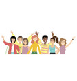 group portrait smiling girls and boys vector image vector image