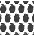 hand grenade seamless pattern arm weapon vector image vector image