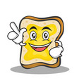 have an idea bread character cartoon vector image vector image