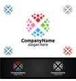 health care cross medical hospital logo vector image vector image