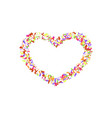 heart confetti isolated white background fall vector image