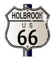 holbrook route 66 sign vector image vector image