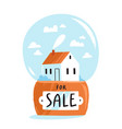 house for sale isolated vector image vector image