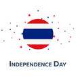 independence day of thailand patriotic banner vector image vector image