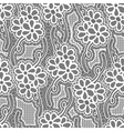 Lace dark seamless pattern with flowers on gray vector image vector image