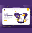 landing page social engagement modern style vector image