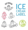Line Ice Cream Badges vector image