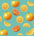 orange fruit fresh seamless pattern design vector image vector image